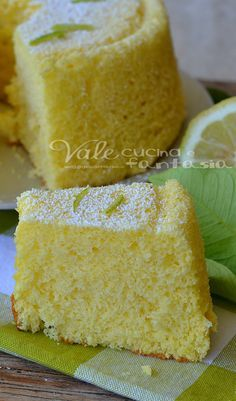 Chiffon cake al limone ricetta senza burro e olio