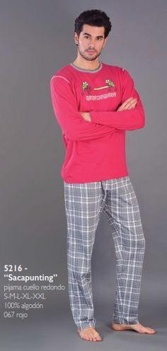Pijama hombre invierno kukuxumusu sacapuntig. Modelo en algodón 100%