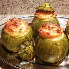 Zucchine ripiene di gateau di patate