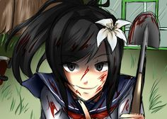 Well yeah, I've never actually done Yandere simulator fanart even though I'm a huge fan of the game! Drawing Ayano was incredible fun by the way! Let's use a shovel for today! Yandere Anime, Yandere Chan, Yendere Simulator, Crazy Girls, Kaneki, Shovel, Anime Art, Images, Fan Art