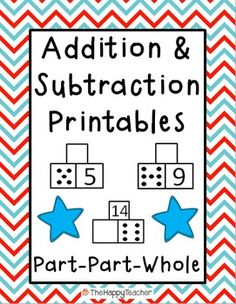 These printables are designed for math centers, independent practice, homework, or for use in small groups. These worksheets will help students with basic addition and subtraction facts, counting on, fact families, subitizing, and automaticity with math facts. $