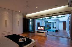 Outside View Window Style Interior Design in Bungalows #BungalowDesign #ModernInteriorConcepts #NasheSiChadhGayi