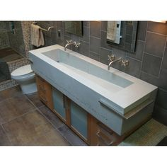 trough sink   Concreteworks East Studio Trough double sink - Vanities - Modenus ...