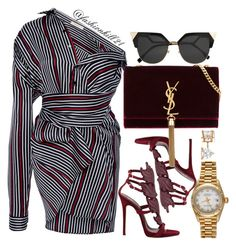 A fashion look from August 2017 featuring SemSem tops, Giuseppe Zanotti sandals and Yves Saint Laurent shoulder bags. Browse and shop related looks. Passion For Fashion, Love Fashion, Fashion Looks, Womens Fashion, Feminine Fashion, Stylish Outfits, Fashion Outfits, Fashion Trends, Polyvore Outfits