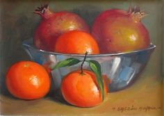 "Daily Paintworks - ""Oranges and Pomegranates"" by Manuel Bascon Moyano"
