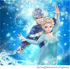 Elsa: the Snow Queen, Heiress of Deep Winter; and Jack Frost: Guardian of Fun, Guardian of Winter. Team Frozen Frost