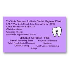 Tri State Dental Hygiene Business Card