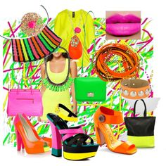 How I love everything neon! Neon Jewelry, Fashion Jewelry, Neon Colors, Colours, Bright Colors, Jewellery Shop Design, Neon Outfits, School Dances, Cgi