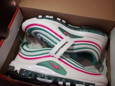 """Release Date: For Sale : """"Nike Air Max 97 South Beach"""". Cute Shoes, Me Too Shoes, Sneakers Fashion, Shoes Sneakers, Cheap Fashion, Modern Fashion, Fashion Men, Colorful Sneakers, Dream Shoes"""