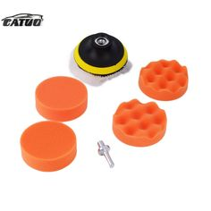 2015 new 3 inch Polishing Buffer Sponge Pad Set + Drill Adapter For Car Polisher hot selling