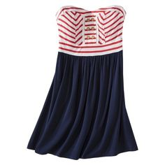 Target : Xhilaration Juniors Strapless Fit & Flare Dress - Assorted Colors : Image Zoom