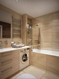 Gorgeous Small Wood Bathroom Design Ideas That Women Will Love It Wood Bathroom, Laundry In Bathroom, Budget Bathroom, Bathroom Renos, Bathroom Layout, Bathroom Interior Design, Bathroom Renovations, Small Bathroom, Bathroom Ideas