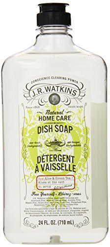 J.R. Watkins Natural Liquid Dish Soap, Aloe & Green Tea, 24 Ounce (Pack of 6) * Check out this great product.
