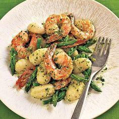 Gnocchi with Shrimp, Asparagus, and Pesto | CookingLight.com
