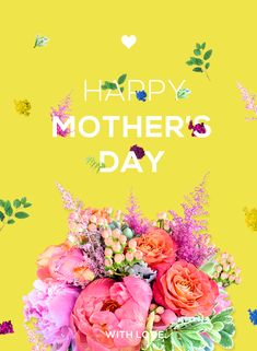Florals and typography. Mother's Day Poster. Flowers & Type on Behance