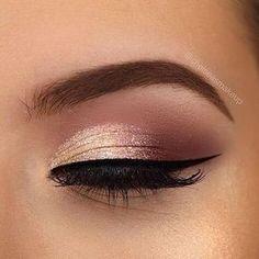 Rose Gold Augen Make-up Ideen Makeup - makeup products - makeup tutorial - makeup tips - Source make Wedding Makeup For Brown Eyes, Gold Eye Makeup, Eye Makeup Tips, Makeup Hacks, Wedding Hair And Makeup, Makeup Routine, Bridal Makeup, Makeup Ideas, Pink Makeup