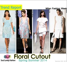 Floral Cutout Fashion #Trend for Spring Summer 2014 at Milan #Fashion Week #MFW #Spring2014 #Prints #Trends