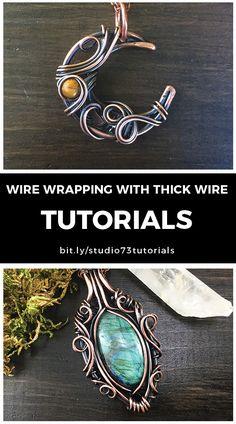 Wire Jewelry Designs, Handmade Wire Jewelry, Wire Jewelry Making, Wire Wrapped Jewelry, Wire Wrapping Tutorial, Wire Tutorials, Bijoux Fil Aluminium, Stone Wrapping, Wicca
