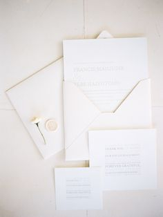 modern and minimal, light and airy wedding invitation suite | Photography: Angga Permana Photo - www.anggapermanaphoto.com  Read More: http://www.stylemepretty.com/2014/10/06/classic-white-wedding-in-bali/