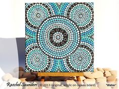 Acrylic Painting Aboriginal Dot Art Aquatic Art by RaechelSaunders, $80.00