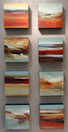 "My ""wall sculpture"" artwork includes 3 series: ""Earth Series"" (sets of long skinny totems), ""Outside of the Box"" series (sets of box paintings), and ""Organic View"" series, which are larger versions (done to your specs) of the ""Outside of the Box"" series.…"