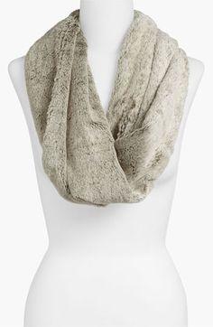 faux fur circle scarf