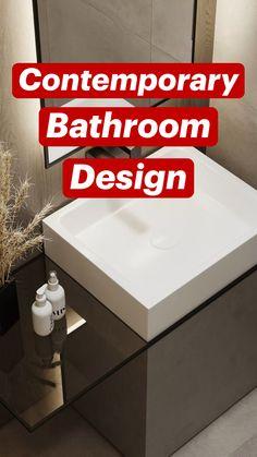 Bathroom Trends, Budget Bathroom, Bathroom Storage, Master Bathroom, Bathroom Ideas, Bathroom Gadgets, Contemporary Bathroom Designs, Sink Design, Minimalist Bathroom