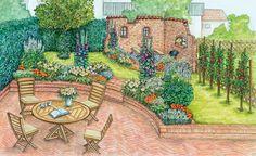 Damit die Mauer im hinteren Teil des Gartens stabil steht, ist es hilfreich, für den Bau einen Fachmann zurate zu ziehen.