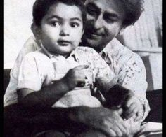Rishi Kapoor with father Raj Kapoor