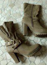 Stylische Stiefel Stiefeletten Gr. 40