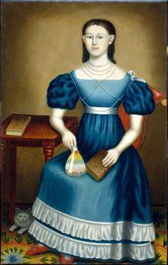 Ellen Tuttle Bangs By Erastus Salisbury Field ~nineteenth century folk artist