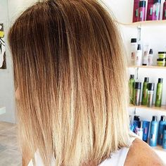 Straight Shoulder Length Blonde Ombre Hair