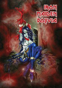 Iron Maiden Bolivia She-Eddie by *AXCIDO on deviantART
