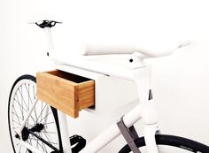 bike shelf drawer | Even when a bike is not being hung from the TÎAN, it appears as ...