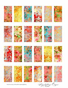 LUMINESCENCE DOMINOS 1x2 inch images digital collage sheet  - Printable Download - pendants - magnets - paper craft supply 414d. $4.00, via Etsy.