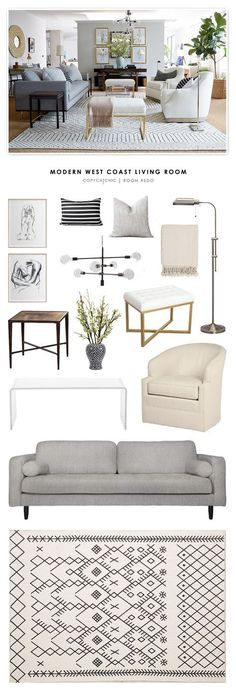 Copy Cat Chic Room Redo | Modern West Coast Living Room