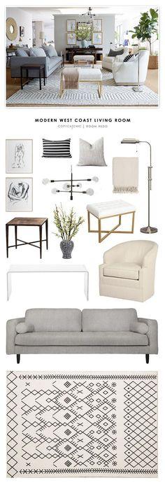 Copy Cat Chic Room Redo | Modern West Coast Living Room