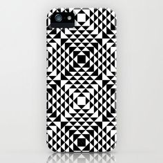 Geometric Tribal iPhone/smartphone case by Martin Isaac