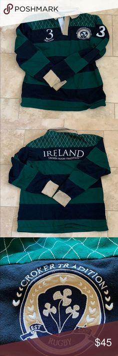 9ef679eade55b Ireland Croker Tradition Rugby Number 3 Ireland Croker Tradition Rugby  Number 3 Irish Rugby Men's XL