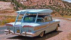 Aero Cabana Car Attachment 1958: Very cool! Unfolds like a pop-up.