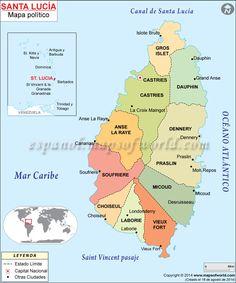 santa lucia isla mapa - Buscar con Google