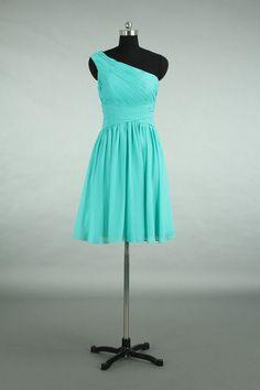 Custom Made Bridesmaid Dress Turquoise Chiffon by harsuccthing