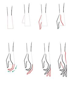 How to draw hands - #draw #hands
