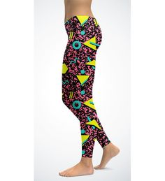 New+90's+abstract+print+leggings  Available+in+size+XS-XL Fabric:+82%+polyester,+18%+spandex+ Imported+fabric+that's+printed,+cut,+and+sewn+in+California Four-way+stretch,+which+means+fabric+stretches+and+recovers+both+on+the+cross+and+lengthwise+grains Made+of+a+microfiber+yarn,+which+is+s...