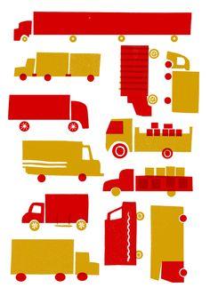 Lucie sheridan - Red lorry, Yellow lorry  http://cargocollective.com/luciesheridan/