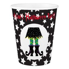 Witches Feet Halloween Party Paper Cup - halloween decor diy cyo personalize unique party