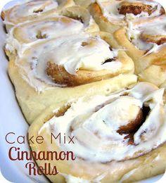Cake Mix Cinnamon Rolls Recipe on MyRecipeMagic.com
