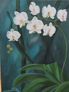 """My new painting """"Orchid"""" , acrylic on canvas, 60 X 40 cm Acrylic Painting Canvas, Abstract Canvas, Flor Magnolia, Hanging Orchid, Orchids Painting, Peacock Art, Bouquet, Pastel Art, Painting Inspiration"""