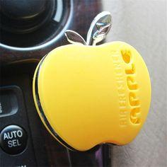 2016 de La Moda de peinado con Sabor En El Perfume Del Coche perfume del coche 100 original apple forma ambientador de aire del coche para vw ford kia Renault