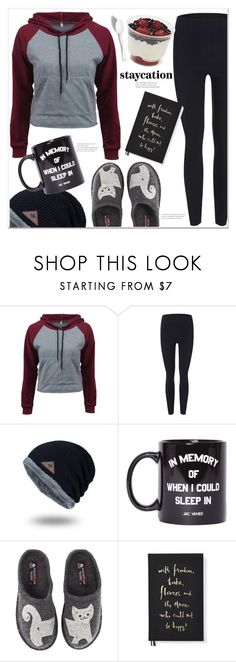 """""""staycation"""" by mycherryblossom ❤ liked on Polyvore featuring Etiquette, Jac Vanek, Haflinger and Kate Spade"""